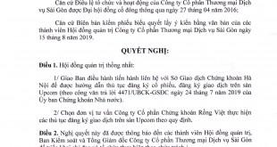 nghi quyet HDQT Upcom