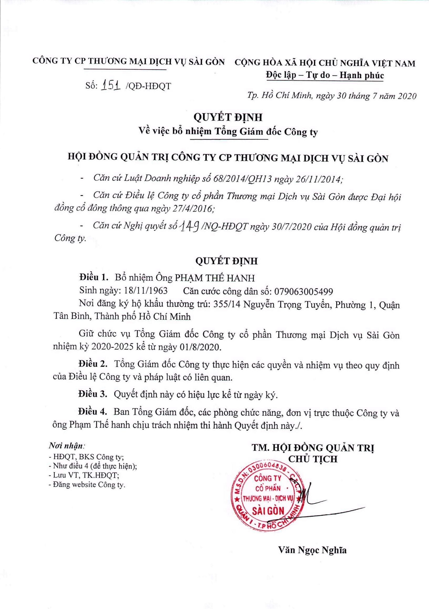 Quyết định HĐQT số 151 - QĐ-HĐQT ngày 30-7-2020 (1)