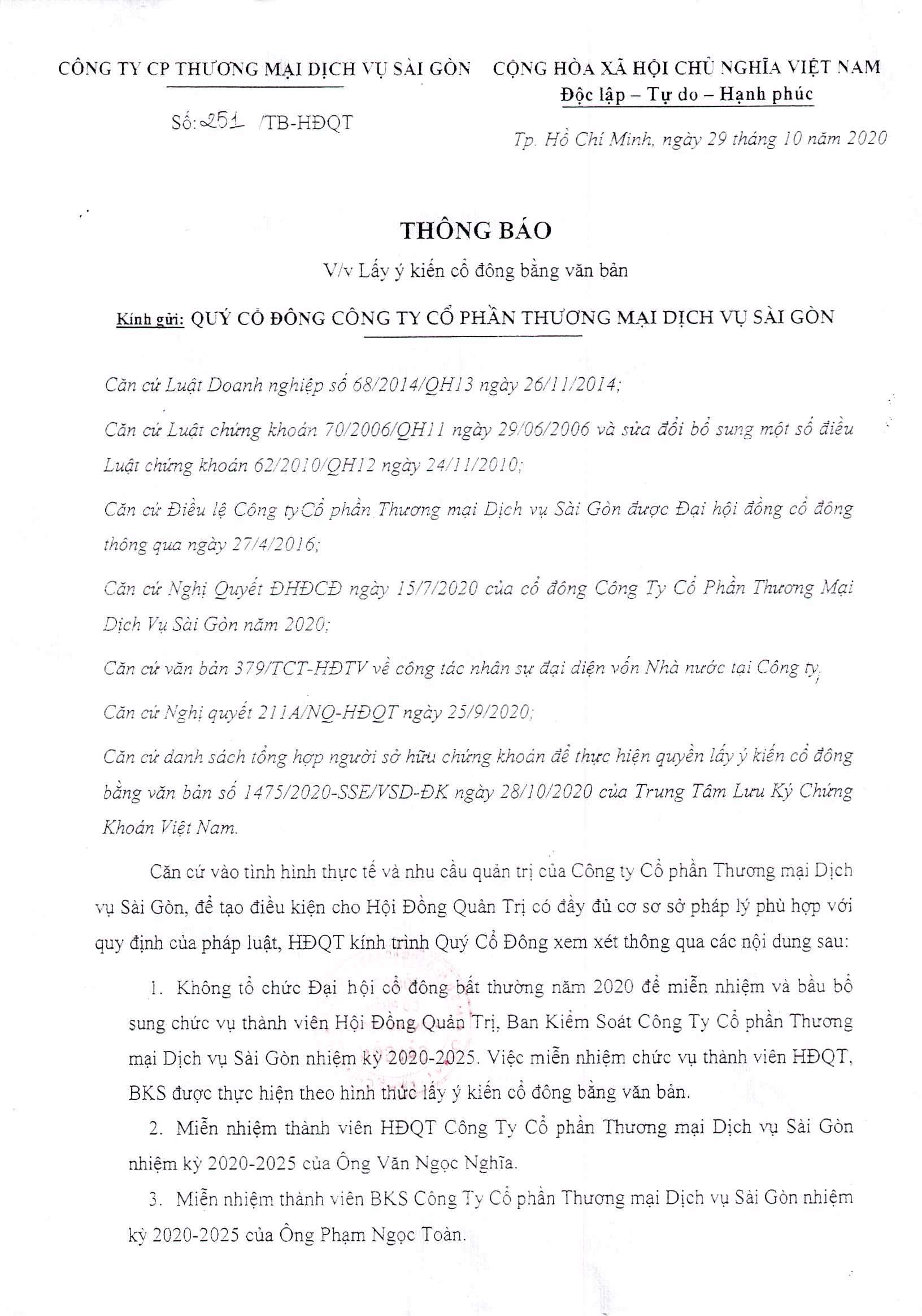 Thông báo 251-TB-HĐQT ngày 29-10-2020 (01)